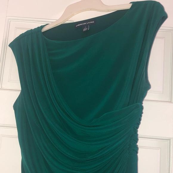 Knee length green formal dress
